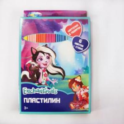 Пластилин 6 цв. Enchantimals 88615