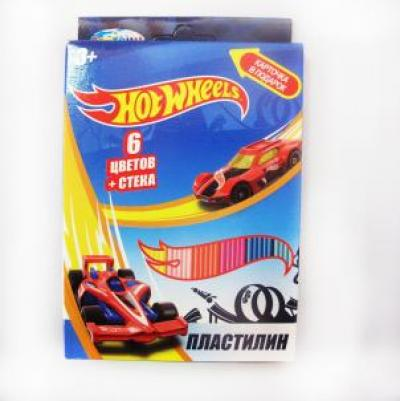 Пластилин 6 цв. Hot Wheels 88618