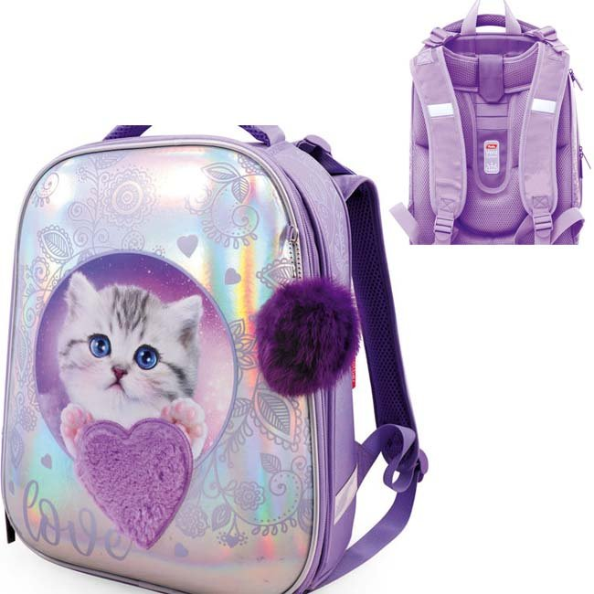 Рюкзак ERGONOMIC Glamour kitten 37х29х17 см 30023 Hatber