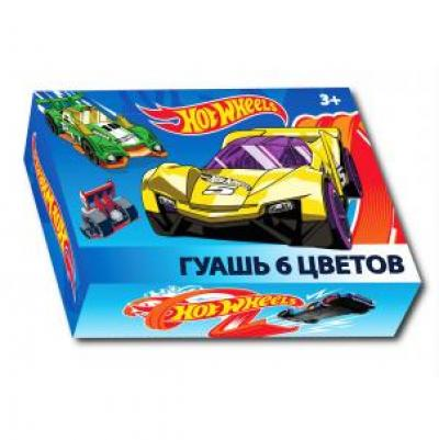 Гуашь 6 цв. Hot Wheels 88763